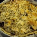 Goat cheese and leeks pie 3