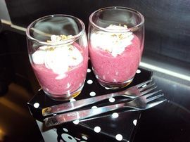 Beetroot with soft cheese