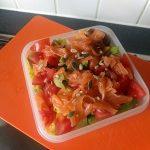 Salmon and avocado salad2