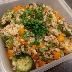 Quinoa bulgur carrot and courgette 52