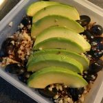 Quinoa bulgur salad with grapes and avocado 22