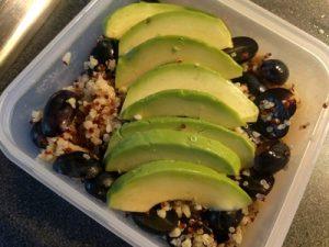 Quinoa bulgur salad with grapes and avocado 22