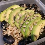 Quinoa bulgur salad with grapes and avocado 32