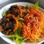 Rosti with sweet potato, leek and kale52