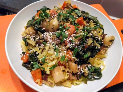Tumeric rice with veggie2