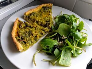 Onion vegan quiche 12