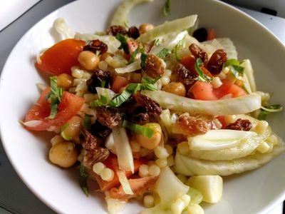 Fennel and giant couscous salad 32