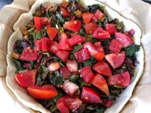 Quiche with swiss chard and tomato 32