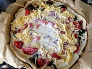 Quiche with swiss chard and tomato 42