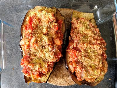 Stuffed aubergine 52