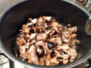 Orzo with brocoli and mushroom 12