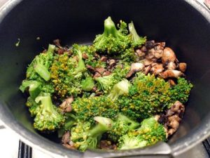 Orzo with brocoli and mushroom 22