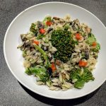 Orzo with brocoli and mushroom 32