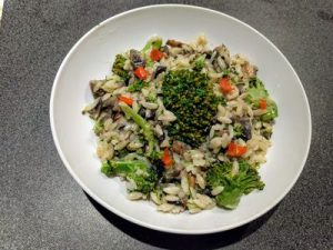 Orzo with brocoli and mushroom 32