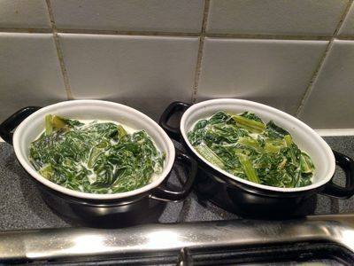 Spinach with cream 32