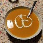 Carrot soup with miso paste2