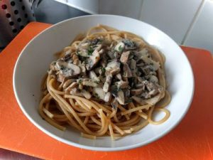 Pasta with mushrooms 22