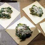 Puff pastry parcel with swiss chard and kale 22