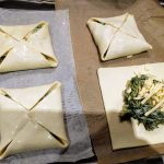 Puff pastry parcel with swiss chard and kale 32