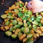 Stir fry with Head of Brussels sprout 22